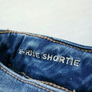 American Eagle Outfitters Shorts - American Eagle Hi-Rise Shortie Destroy Jean Shorts